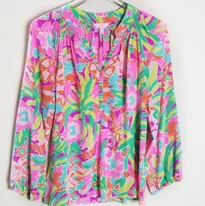 Lilly Pulitzer Silk Elsa Top Blouse style 41773